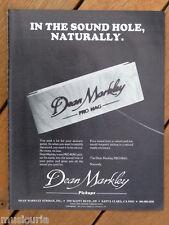 retro magazine advert 1983 DEAN MARKLEY pro mag pickup