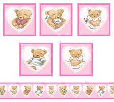 Dolls House Wallpaper Border Nursery 55 Ins Long 5 Posters Teddies 1/12th B32p