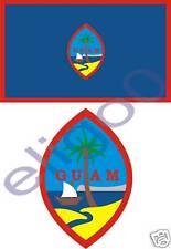 GUAM State Flag + SEAL 2 bumper stickers decals USA new