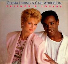 "CARL ANDERSON GLORIA LORING ""FRIENDS & LOVERS"" CARRERE 06122 (1986) 45 & PIC SLV"