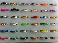 50 fashionable adult mixed lucite Band rings in mix patterns & styles party bag
