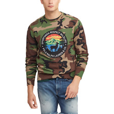 Polo Ralph Lauren Men's Surplus Camo-Great Fleece Cotton Blend Sweatshirt Green