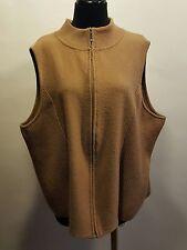 Pendleton Plus Camel Tan 100% Merino Wool Zip Up Sleeveless Sweater Vest 2X Euc