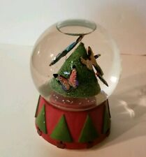 Neiman Marcus Butterflies Musical Snow Globe 1999 Dept 56 ~ O CHRISTMAS TREE