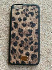 Dolce & Gabbana Leather Hard Case iPhone 6 6S D&G leopard New