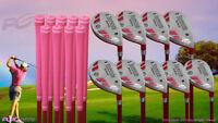 Petite Senior Women's iDrive Golf Clubs Pink Hybrid (3-SW) Full Set Senior Flex