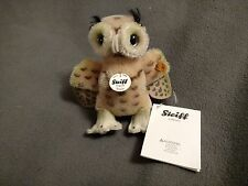 STEIFF WITTIE OWL 5 inches 12 cm spotted beige MOHAIR Great Condition