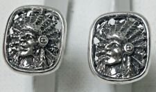 American Indian Chief sterling silver cufflinks