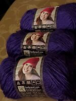Lion Brand Landscapes Yarn Amethyst Color Lot of Three (3) Skeins Brand  NEW