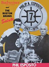 Phil Esposito Boston Bruins #7 Retirement Night Program Cover, 8x10 Color Photo
