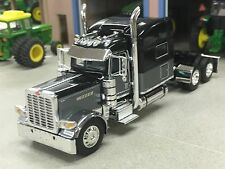 "1/64 DCP BLACK/GUN METAL GRAY 389 PETERBILT W/ 70"" SLEEPER"