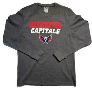 Washington Capitals NHL Mens Gray Long Sleeve T Shirt Size 2XL