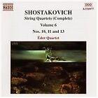 Shostakovich: String Quartets (Complete), Vol. 6, Eder Qt, Very Good CD