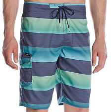 E904 O'neill Santa Cruz Stripe Board Shorts - NWT Mens 40 Aqua / Multi - #27284