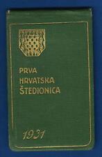 VINTAGE CALENDAR, NOTE BOOK, PRVA HRVATSKA ŠTEDIONICA 1931,Kingdom of Yugoslavia