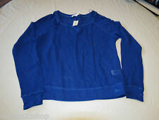 Aeropostal Aero L large 475 blue Womens long sleeve mesh shirt cover up NWT#