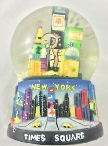 Vintage NYC New York City Times Square Broadway Snow Globe Souvenir Display