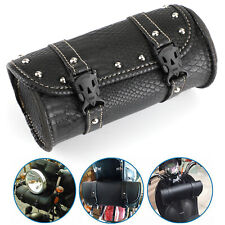 Universal Motorcycle Front Fork Bag Pouch Luggage SaddleBag For Dyna crocodile P