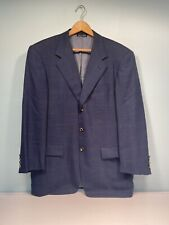 Pal Zileri Blue Italian Tailored Suit Jacket Size 44