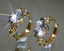 Sparkling 2 x 1.25ct Created Brilliant Diamond 1.4cm Hoops (Y)