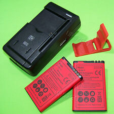2x 1800mAh Battery Universal House Charger Bracket for Nokia C3 C3-00 At&T Phone