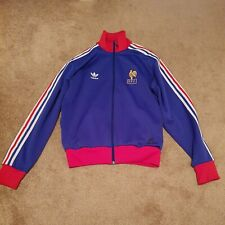Mens Vintage Adidas Blue France FFF Football Sweatshirt size uk M