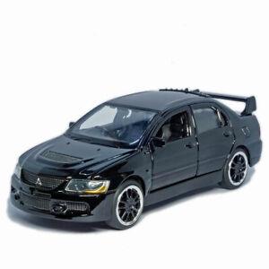1/32 Mitsubishi Lancer Evo 9 Model Car Diecast Vehicle Collection Gift Black