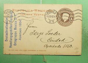 DR WHO 1912 MEXICO POSTAL CARD  g23418