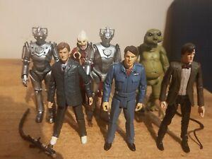X7 Dr Who Figures Bundle BBC CyberMen , Matt Smith , David Tennant,  Doctor Who