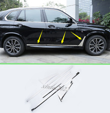 6PCS Stainless Side Door Body Molding Streamer Trim For BMW X5 G05 2019 2020