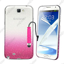 Housse Etui Coque Gouttelettes Rose Samsung Galaxy Note 2 N7100 + Mini Stylet