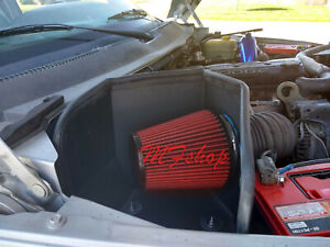 Red For 94-02 Dodge Ram 2500 3500 5.9L Diesel Cold Air Intake + Heat Shield