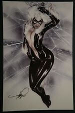 Black Cat Print Signed by Eric Basaldua (ebas)
