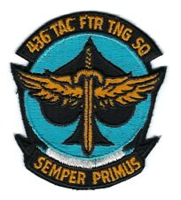 USAF AIR FORCE PATCH 436 TACTICAL FIGHTER TRAINING SQUADRON COLOR