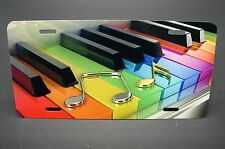 PIANO KEYS NOVELTY LICENSE PLATE FOR CARS METAL ALUMINUM MUSIC THEME