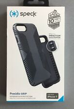 Genuine Speck Presidio Grip iPhone 7 Tough Case Cover in Grey Drop Tested