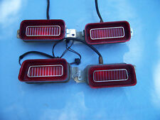 NOS 1969 IMPALA RIGHT+LEFT HAND OUTER+INNER TAIL LAMP ASSEMBLIES SET OF 4