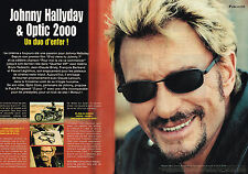 PUBLICITE ADVERTISING 015  2004  JOHNNY HALLYDAY & OPTIC 2000  un duo d'enfer
