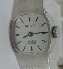Geneve  - 17 Rubis  /  Damenuhr 835er Silber
