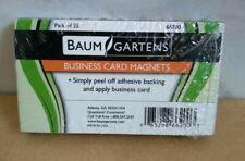 "BAUMGARTENS  Business Card Magnets 25/Pkg 3.5""X2"" 085288662003 PEEL OFF ADHESIVE"