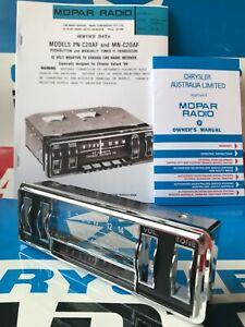 NEW! VH Chrysler Valiant 11 THUMBWHEEL RADIO FASCIA KIT Charger R/T Pacer Ranger