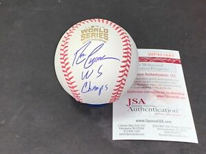 Ron Coomer Chicago Cubs Signed 2016 World Series Baseball JSA COA WS CHAMPS