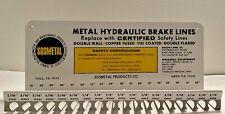 Vtg Metal Hydraulic Brake Line Rack Sosmetal Fl Automotive Advertising Display