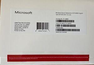 Microsoft Windows server 2019 datacenter 64 Bit DVD 16 Core License Product Key