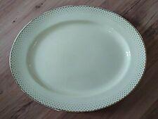 Vintage Art Deco 1930s Crown Devon Large Oval Platter Rich Cream Gold