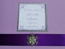 Custom Funeral Guest Book- Choice of Color- memorial service purple lavender