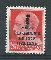 """1944 Rep Sociale ITA """"20c GIULIO CESARE 495/A"""" MNH NUOVO LUSSO**"""