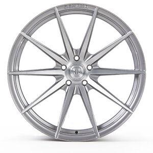 "20"" Rohana RF1 Brushed Titanium Concave Wheels for Audi"