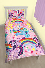 MY LITTLE PONY PARTY SINGLE ROTARY DUVET SET QUILT COVER KIDS BEDROOM REVERSIBLE