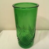 "Vintage Hoosier Glass Vase #4080-B Emerald green 9.5"" Tall Art Deco Style FS!"